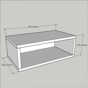 Criado mudo, mesa de cabeceira, suspenço, em mdf Branco