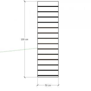 Painel canaletado para pilar preto 1 peça 50(L)x180(A)cm