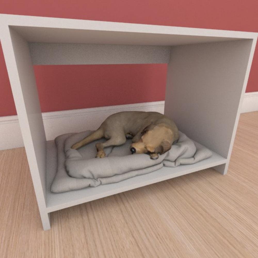 Caminha compacta pequeno cachorro em mdf cinza