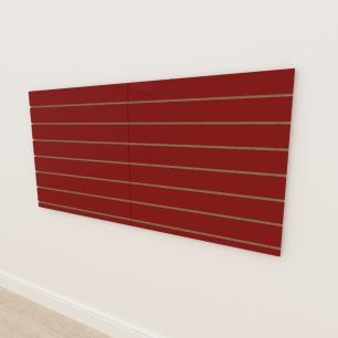 Painel canaletado 18mm Vermelho Escuro Tx altura 90 cm comp 180 cm