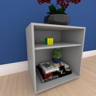 Estante escritório formato S simples em mdf Cinza