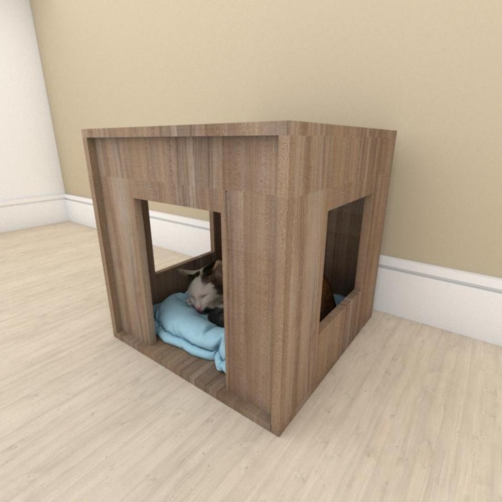 Mesa de cabeceira bercinho para Gato em mdf Amadeirado