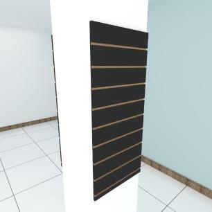 Kit 2 Painel canaletado para pilar preto 2 peças 50(L)x120(A)cm