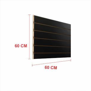 Painel canaletado 18mm preto altura 60 cm comp 60 cm