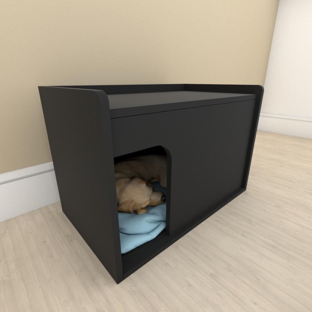 bercinho para cachorro em mdf Preto