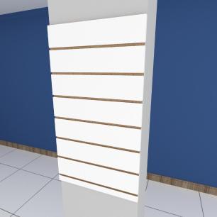 Painel canaletado para pilar branco 1 peça 50(L)x90(A)cm