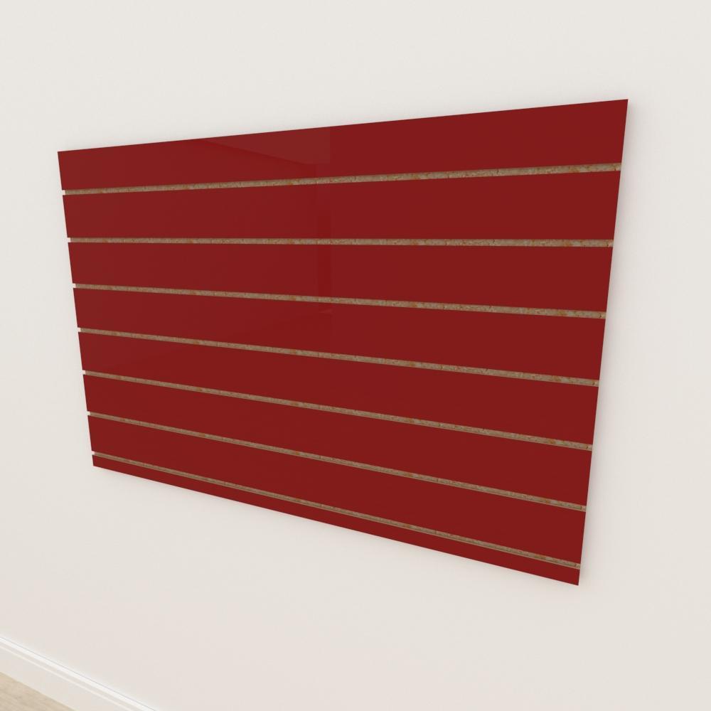 Painel canaletado 18mm Vermelho Escuro Tx altura 90 cm comp 135 cm