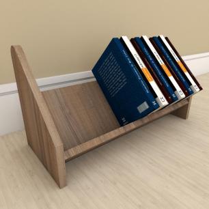 Kit com 2 Organizador para livros amadeirado escuro