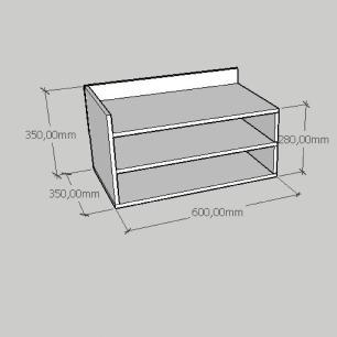 Mesa de cabeceira moderno minimalista em mdf amadeirado