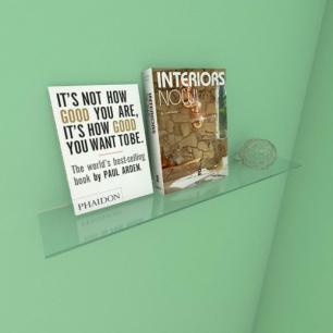 Kit com uma Prateleira para sala 50 cm vidro temperado