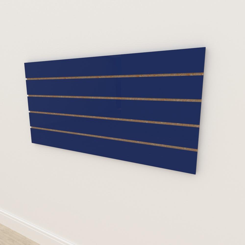 Painel canaletado 18mm Azul Escuro Soft altura 60 cm comp 120 cm