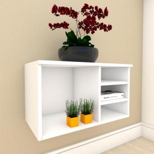 Aparador minimalista com nichos em mdf Branco
