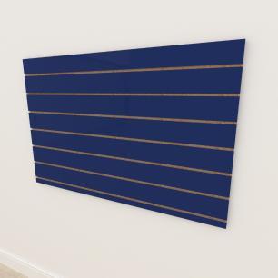 Painel canaletado 18mm Azul Escuro Soft altura 90 cm comp 135 cm