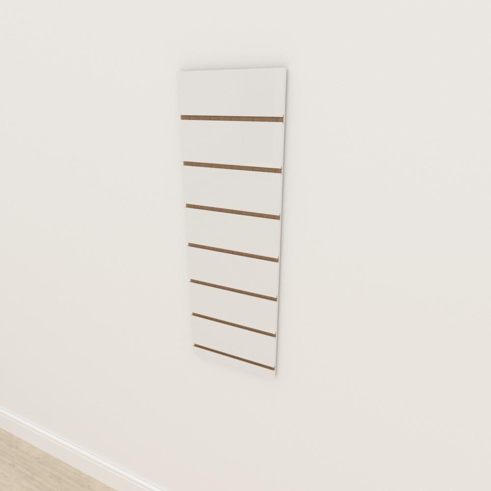 Painel canaletado 18mm Branco Texturizado altura 90 cm comp 30 cm