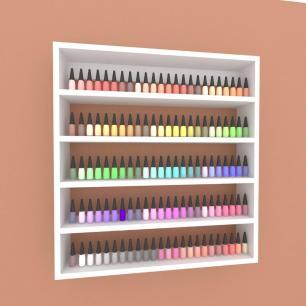 Prateleira, nicho para cosméticos, em mdf 45x45 Cinza