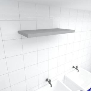 Prateleira para lavanderia MDF suporte Inivisivel cor cinza 60(C)x30(P)cm modelo pratlvc22
