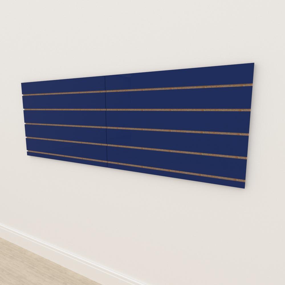 Painel canaletado 18mm Azul Escuro Soft altura 60 cm comp 180 cm