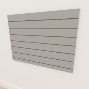 Painel canaletado 18mm Cinza Cristal Tx altura 90 cm comp 120 cm