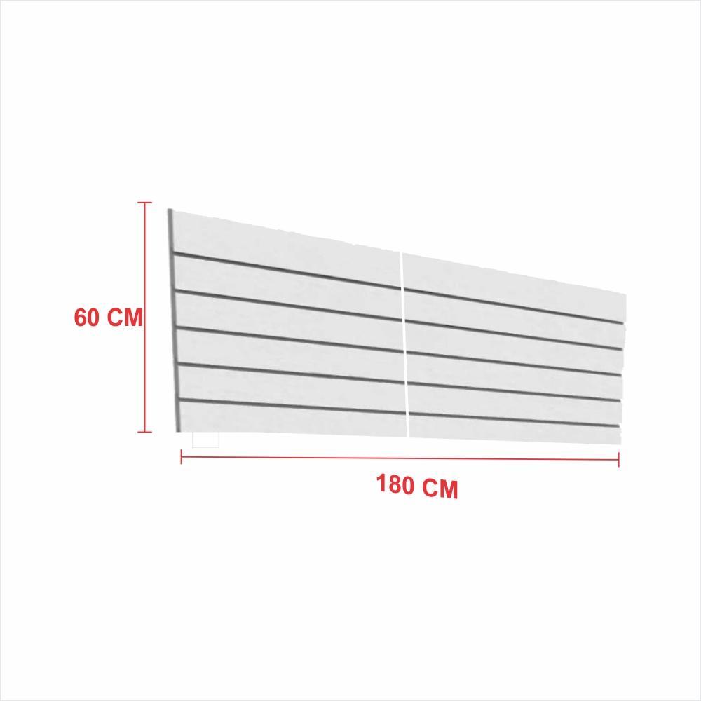 Painel canaletado 18mm cinza altura 60 cm comp 180 cm