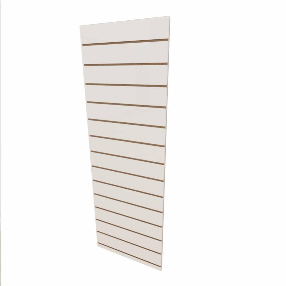 Expositor canaletado 18mm Branco Texturizado altura 180 cm comp 60 cm