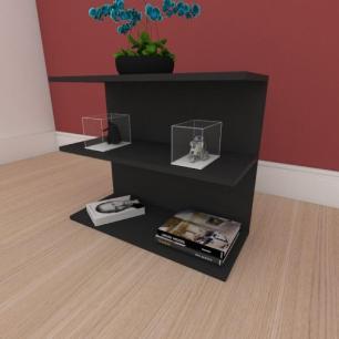 Estante de Livros minimalista moderna em mdf preto