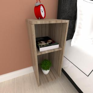 Mini estante para escritório em mdf Amadeirado escuro