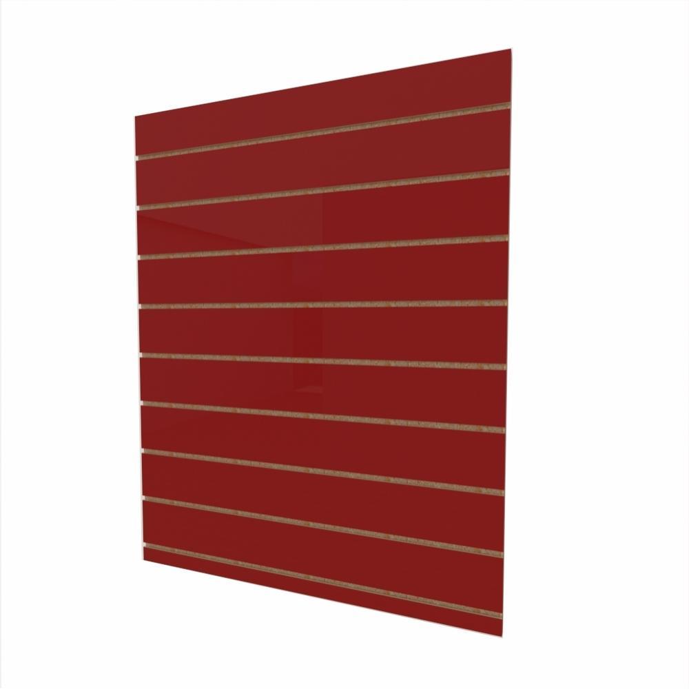 Expositor canaletado 18mm Vermelho Escuro Tx altura 120 cm comp 90 cm