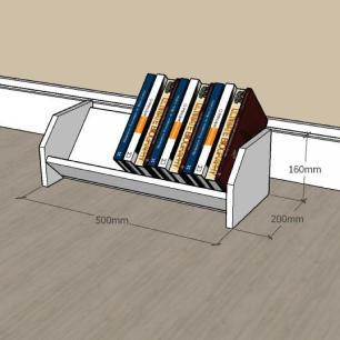 Prateleira para livros em mdf Cinza