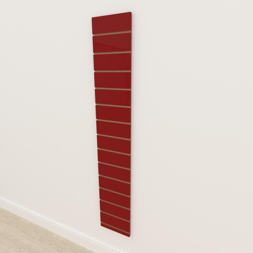Painel canaletado 18mm Vermelho Escuro Tx altura 180 cm comp 30 cm