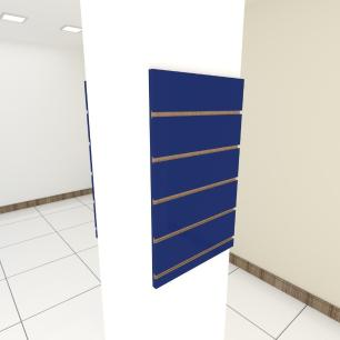 Kit 2 Painel canaletado para pilar azul escuro 2 peças 40(L)x60(A)cm