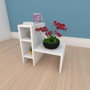 Mesa de centro minimalista em mdf branco