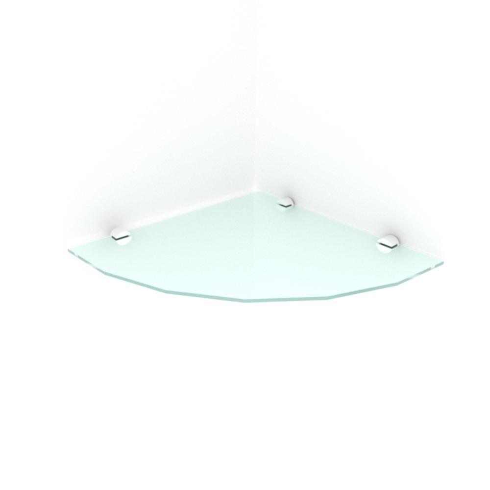 kit com 1 Prateleira para canto de vidro temperado para sala profundidade 30 cm