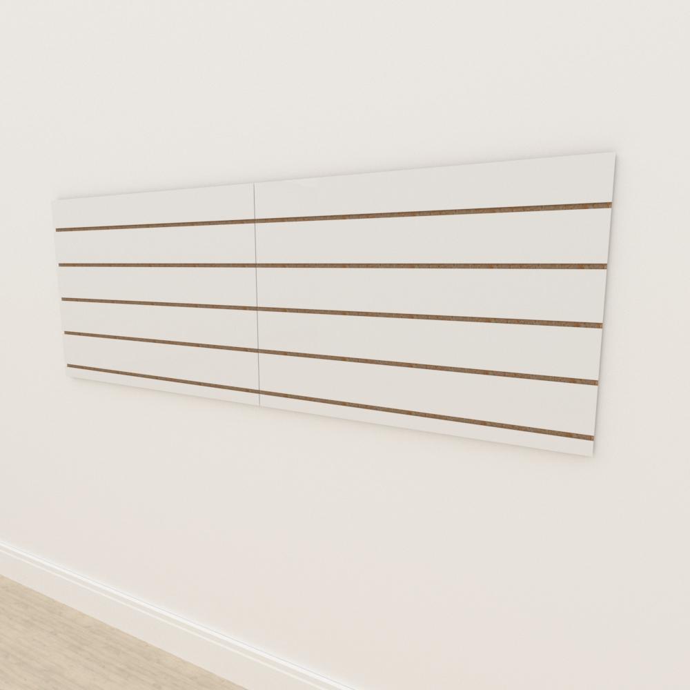 Painel canaletado 18mm Branco Texturizado altura 60 cm comp 180 cm