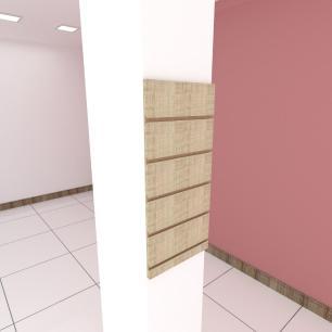 Painel canaletado para pilar amadeirado claro 1 peça 30(L)x60(A) cm