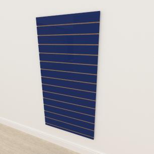 Painel canaletado 18mm Azul Escuro Soft altura 180 cm comp 90 cm