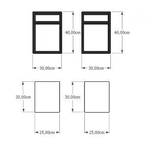 Prateleira industrial para cozinha aço cor preto prateleiras 30 cm cor preto modelo ind24pc