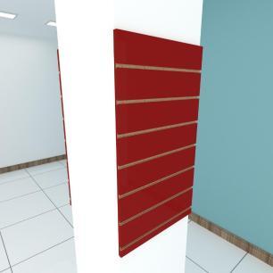 Kit 2 Painel canaletado para pilar vermelho escuro 2 peças 50(L)x90(A)cm