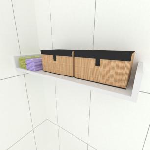 Prateleira para escritório, nichos modernos, em mdf 50x20 Cinza