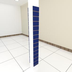 Kit 2 Painel canaletado para pilar azul escuro 2 peças 20(L)x180(A)cm