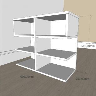 kit com 2 Mesa de cabeceira simples em mdf Branco