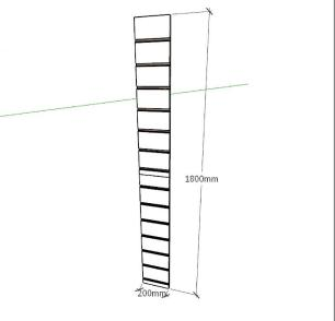 Expositor canaletado 18mm amadeirado escuro altura 180 cm comp 20 cm