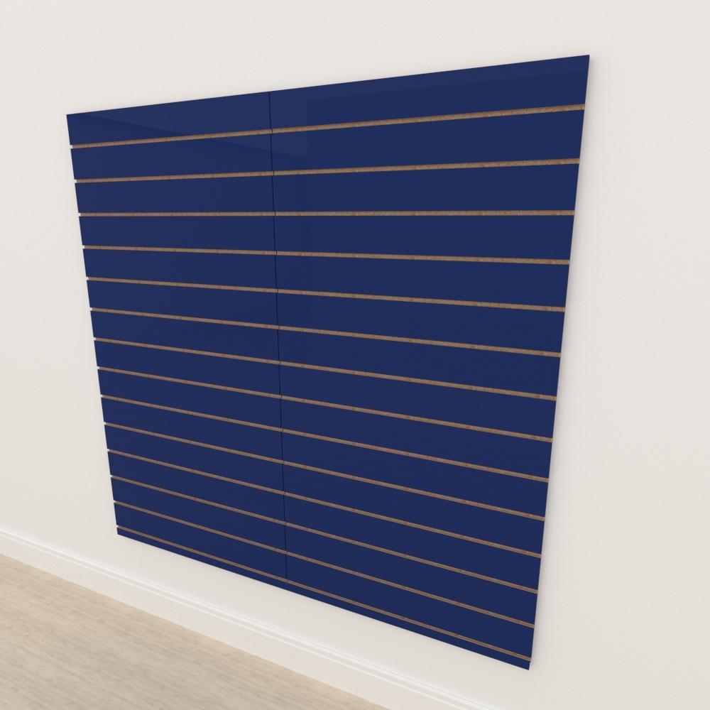 Painel canaletado 18mm Azul Escuro Soft altura 180 cm comp 180 cm