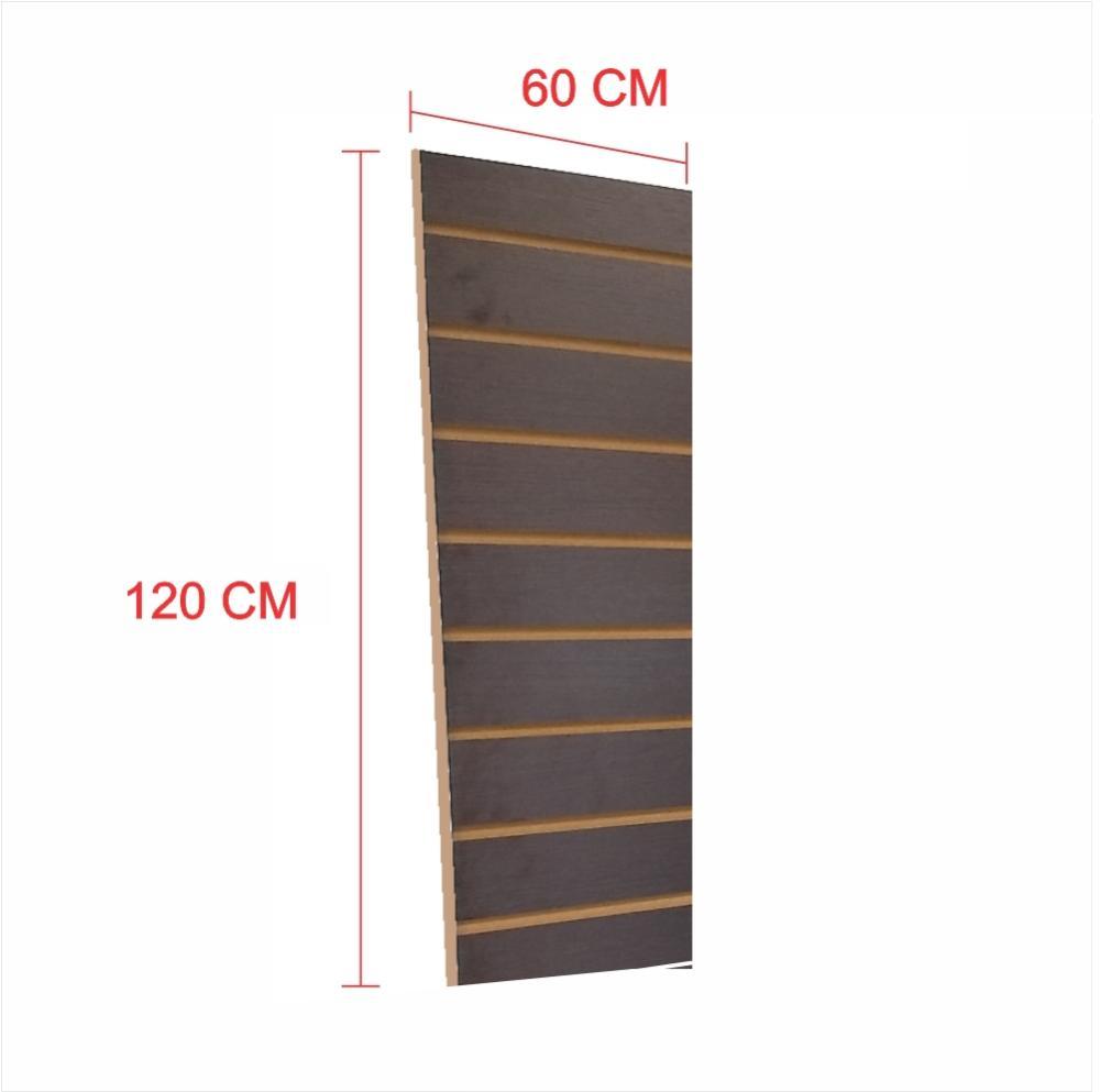 Painel canaletado 18mm preto altura 120 cm comp 60 cm