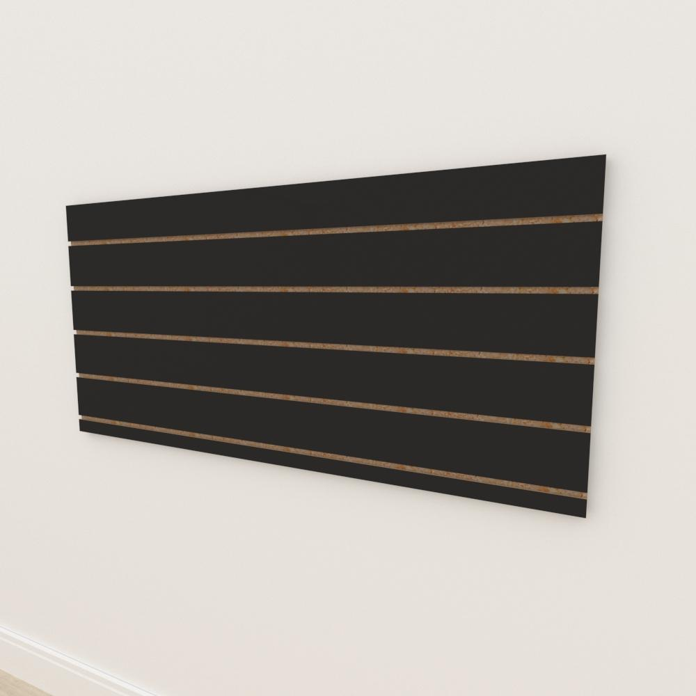Painel canaletado 18mm Preto Texturizado altura 60 cm comp 135 cm