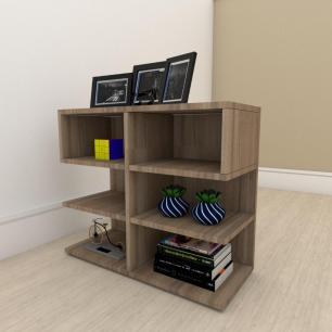 kit com 2 Mesa de cabeceira simples em mdf Amadeirado