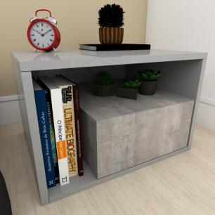 Estante de Livros moderna rustico com cinza