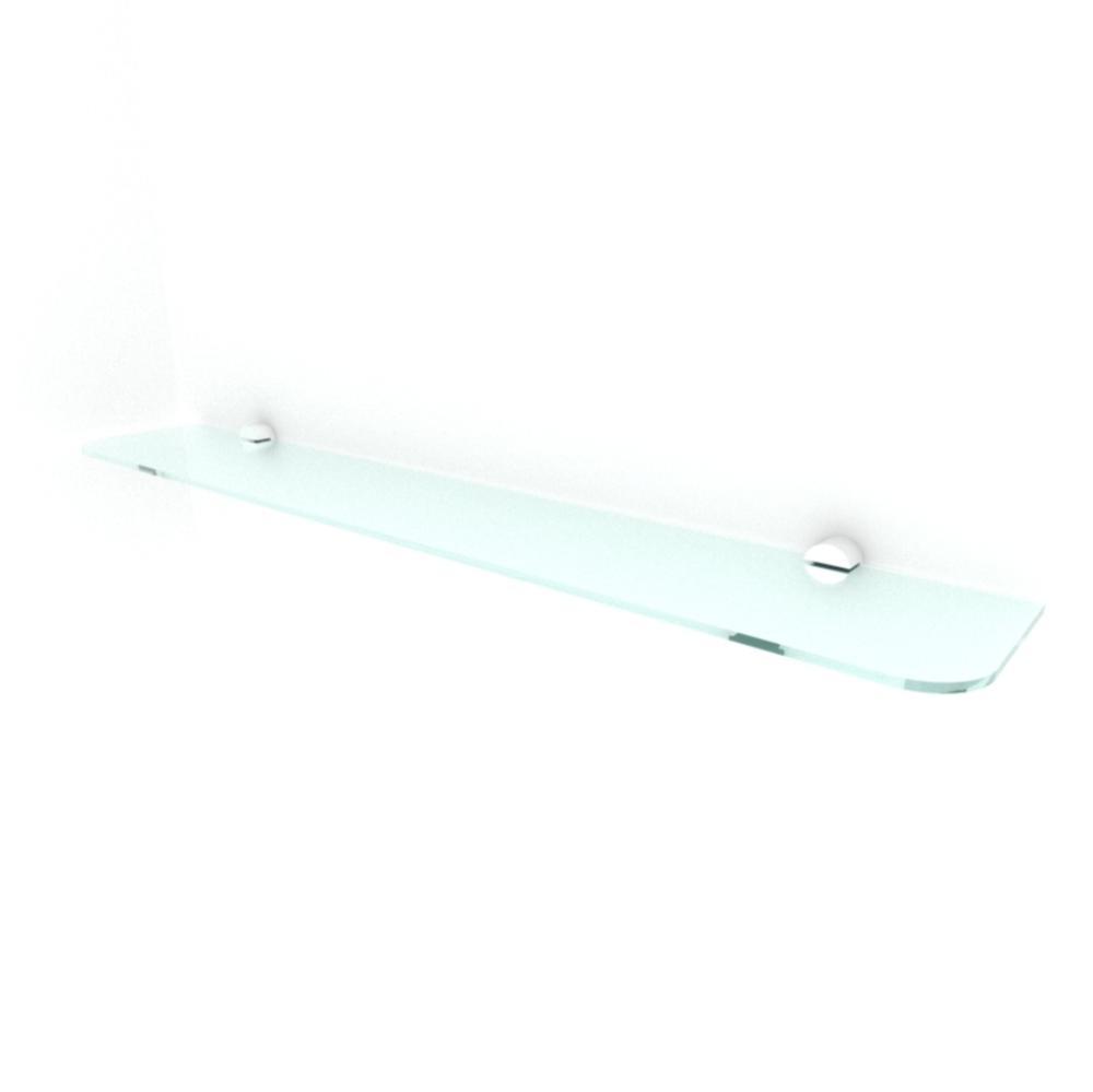kit com 1 Prateleira de vidro temperado para sala 60(C)x8(P)cm