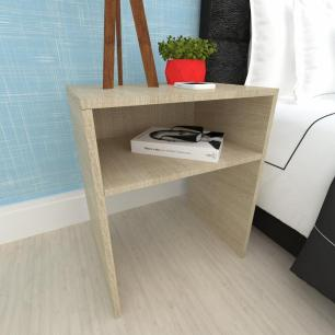 Mesa lateral sofá, mesa de canto, em mdf Amadeirado claro