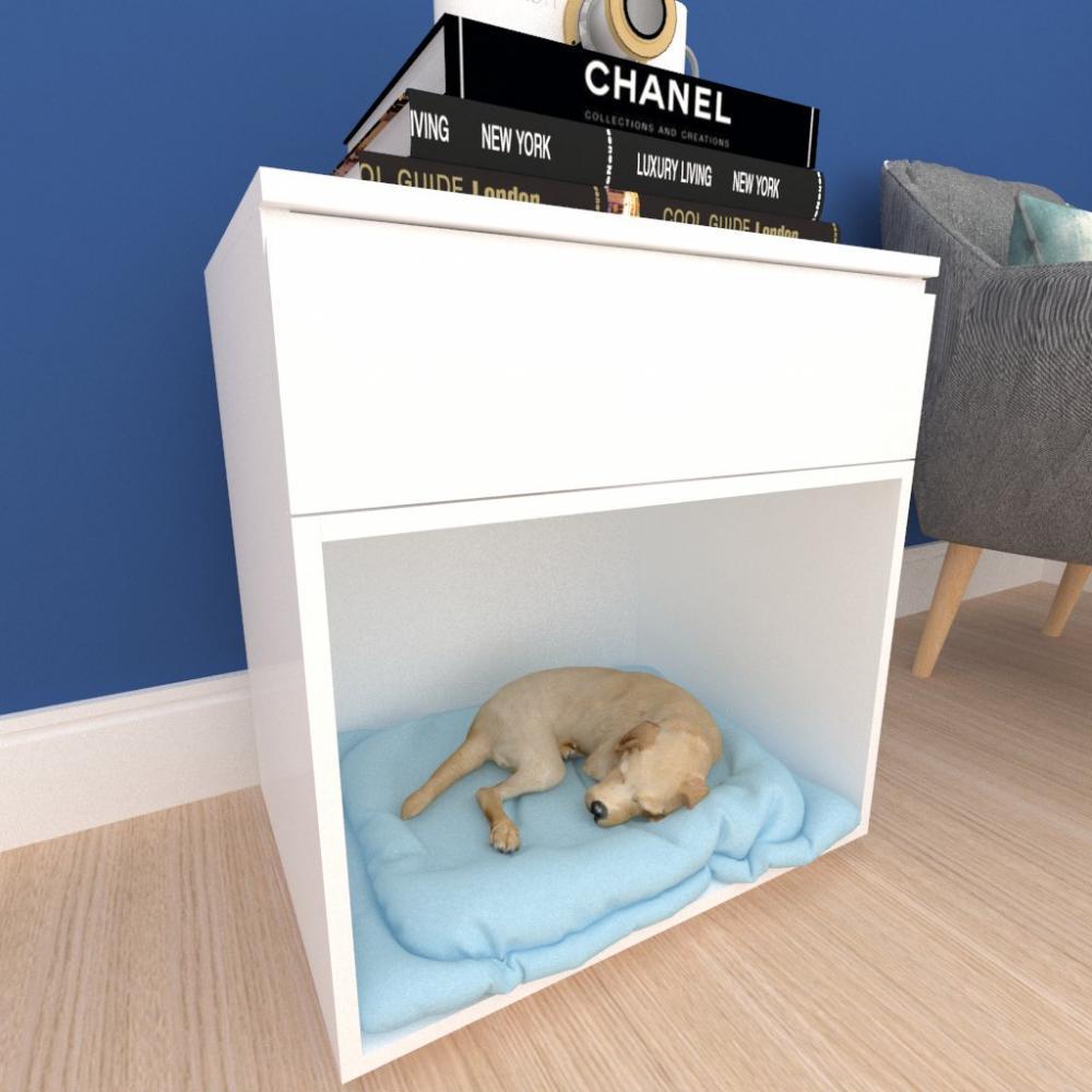 caminha criado cachorro cão gaveta mdf Branco