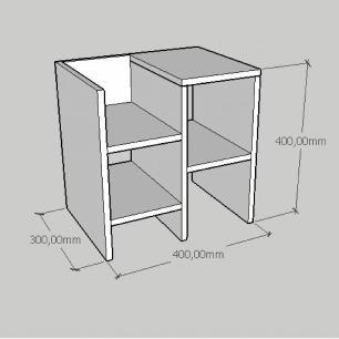 Kit com 2 Mesa de cabeceira slim moderna em mdf cinza
